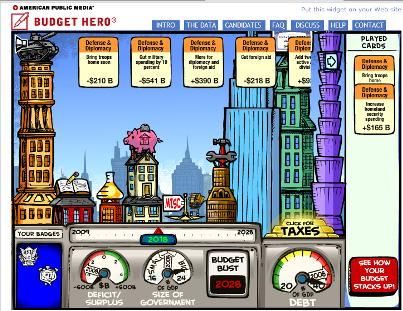 Budget Hero interface