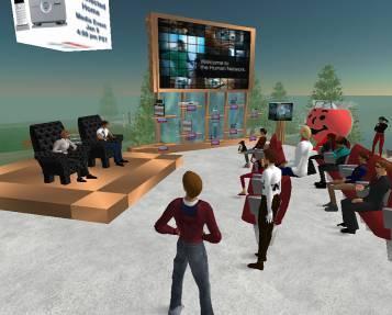 A Second Life virtual environment